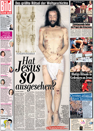 Article in the BILD newspaper (Germany), in 2010
